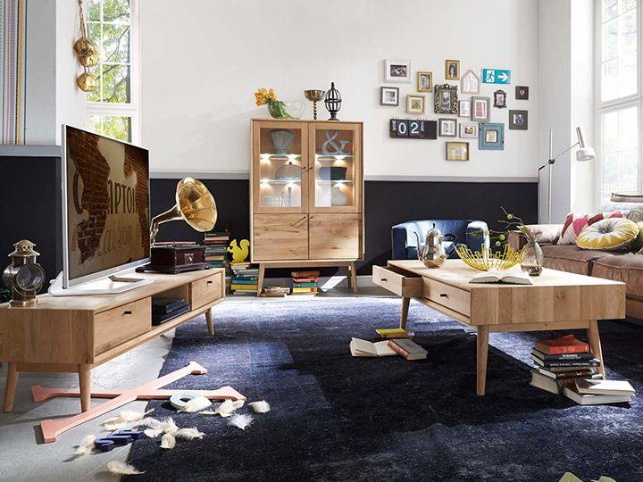 OHIO Beistelltisch Wohnzimmertisch70x130 Wildeiche Massivholz - Qualität von  Bodahl So spannend wie das Leben: Die Serie Ohio sorgt mit ihrer jugendlichen Erscheinung für ein neues Raumgefühl in Ihrem Zuhause. Hier lassen sich...
