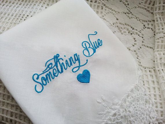 Embroidered Wedding Handkerchief  Something by TheBrideandGroom, $15.00