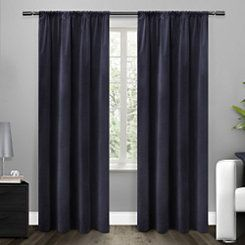 Blue Blackout Curtain Panel, 96 in.