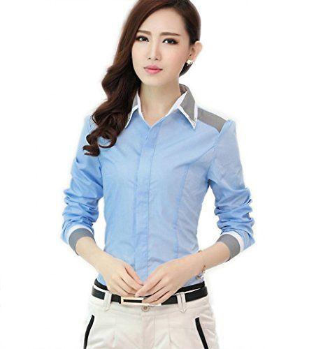 Damen Bügelfrei Strass Button Down Kragen Elegant lässig Hemd Blusen Tops Blau asiatisch 3XL = DE XL WSLCN http://www.amazon.de/dp/B00X9T77DM/ref=cm_sw_r_pi_dp_eQyewb1FGGDYP