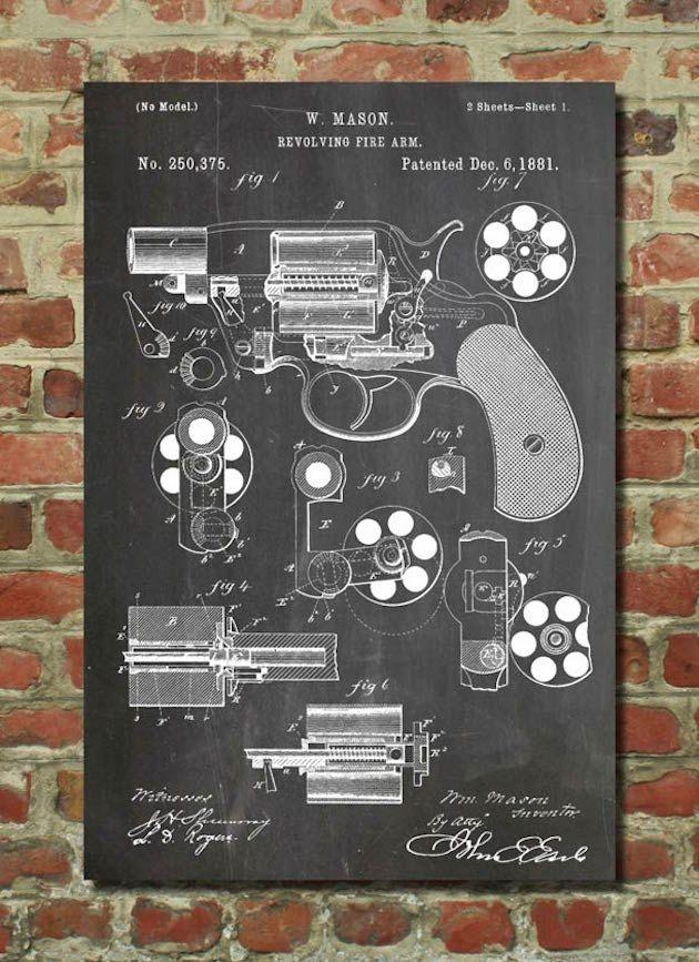 Стильные постеры с рисунками и чертежами самых известных изобретений - DESIGNogolik.ru