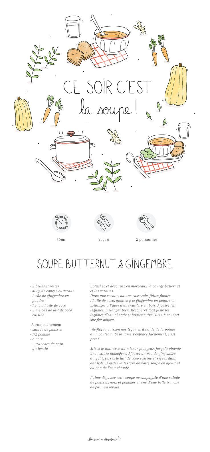 Soupe butternut & gingembre – vegan