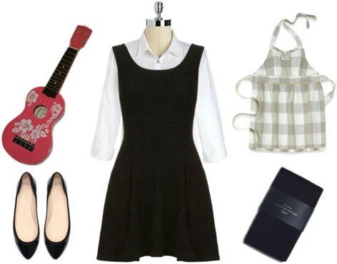 Halloween costume idea: Sound of Music. Maria von trapp costume (13 Little Black Dress costume ideas)