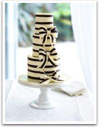 cake: Bows Cakes, Stripes Cakes, Black And White, Shower Cakes, Black White, Cute Cakes, Wedding Cakes, Eating Cakes, White Cakes