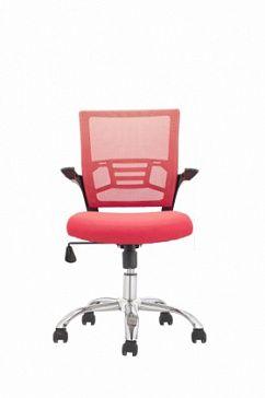 Кресло с сетчатой спинколй, с подлокотниками, мягкое сиденье, с механизмом регулировки наклона кресла