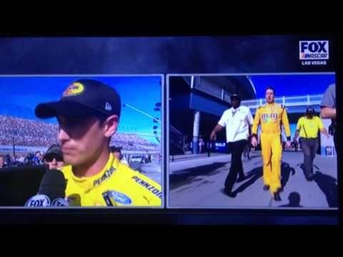 Kyle Busch and Joey Logano FIGHT - Post Race NASCAR Las Vegas - YouTube
