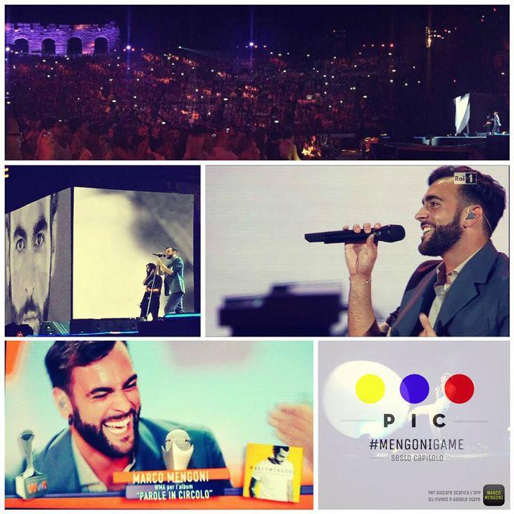 WMA 2015 - 4 giugno - Arena di Verona - Album Multiplatino (Parole in circolo) e Singolo Multiplatino (Guerriero)