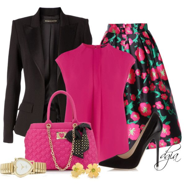 Hot Pink Valentine by dgia on Polyvore featuring Warehouse, Alexandre Vauthier, Jimmy Choo, Betsey Johnson and Bling Jewelry