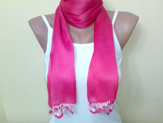 cotton very soft scarf soft scarf fuchsia scarf by BloomedFlower, $20.00