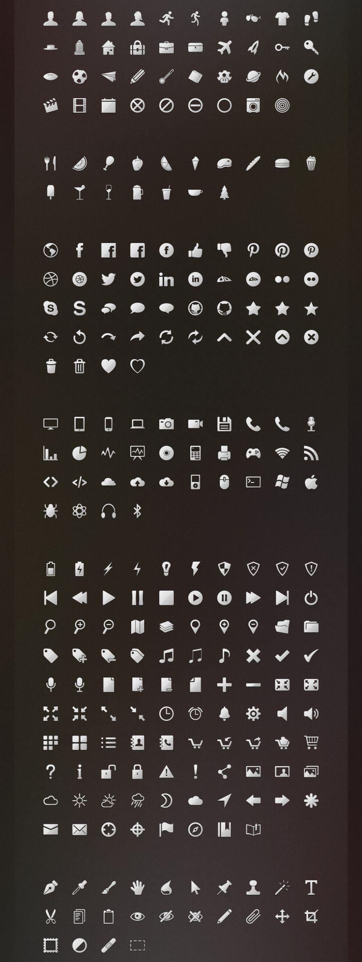 256 Free Icons