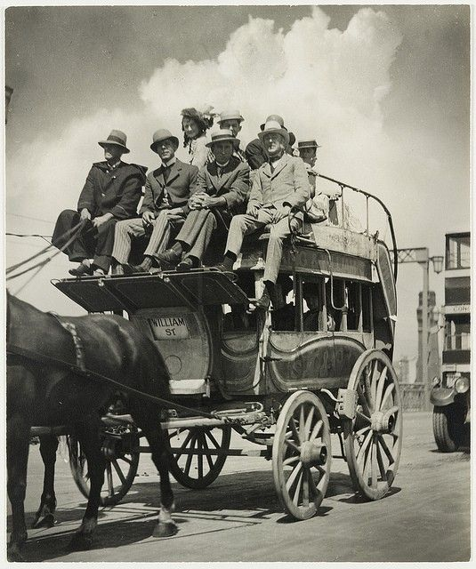 Historical coach used in procession following the opening of the Sydney Harbour Bridge, 1932, Photo by Harold Cazneaux v@e