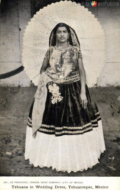 traditional wedding dress. Tehuana, Mexico