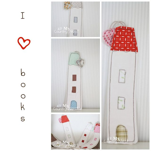 Fabric bookmarks.  Lovely !!  This would make a cute workshop.