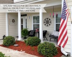 Tips and tricks for decorating a rental house to make it feel like home.  Written by a military wife with lots of moves (and houses!) under her belt. :)