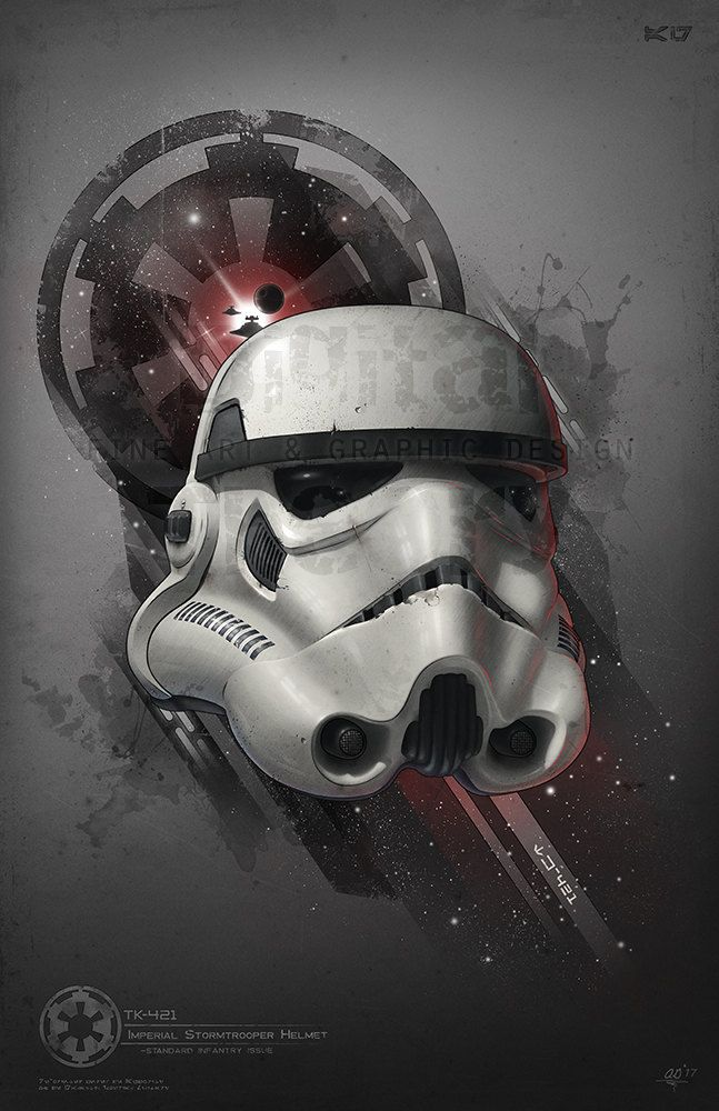 TK-421 Art Print - Created by Anthony GenuardiPrints available for sale at his Etsy Shop.