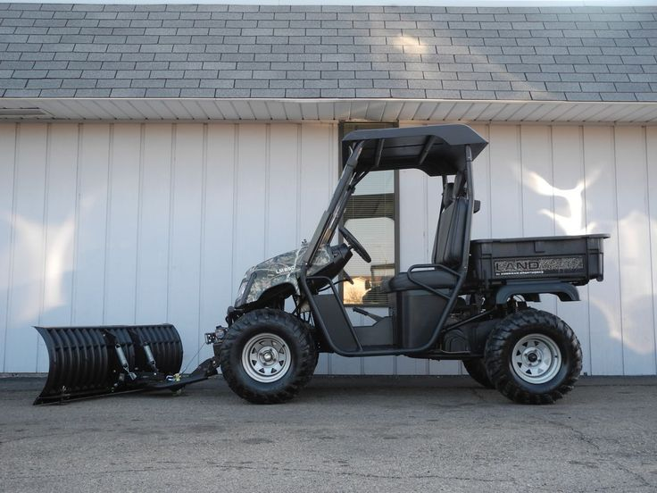 We don't often get an opportunity to buy previously-owned Landmasters, but we just took in this 2011 4x4 LM650 on trade-in. This vehicle has been completely serviced and is well-equipped with Cycle Country snow plow, KFI winch, black hard top, folding windshield, and camo body for just $6099.   #AmericanSportWorks #Landmaster #LM650 #sidebyside #UTV #4wd #snowplow #forsale #PowerEquipmentSolutions #PES #Vandalia
