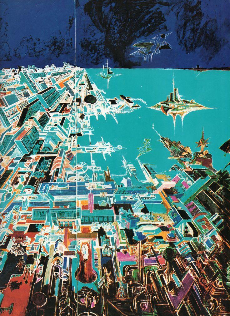 Dipinti di Romano Botti - Veduta aerea della città di Cuba particolare