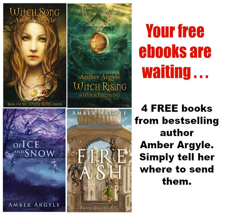 4 free reads from bestselling author Amber Argyle delivered to your inbox: http://eepurl.com/l8fl1