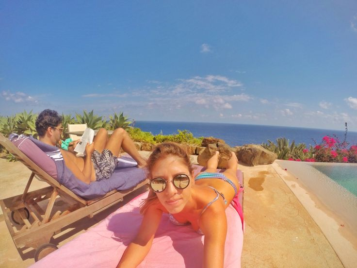 Tanning at Club Levante hotel and infinity pool