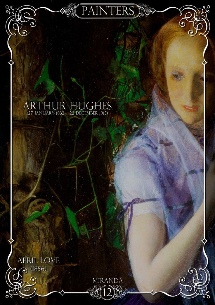 """Tribute to """"Arthur Hughes""""  in Miranda magazine  You can download the magazine free here:  https://www.facebook.com/groups/741118525962252/"""
