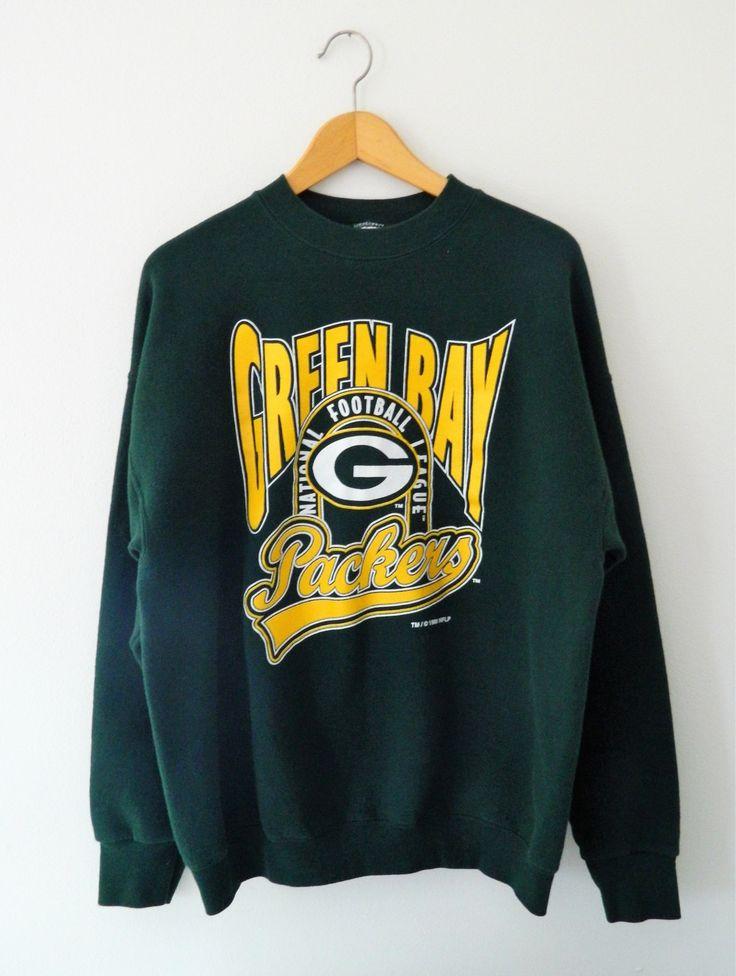 Vintage Green Bay Packers Sweatshirt // 1996 Throwback Green Packers Sweatshirt by GreenBayGal on Etsy
