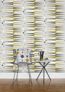 Image of Backgammon Wallpaper - Mustard