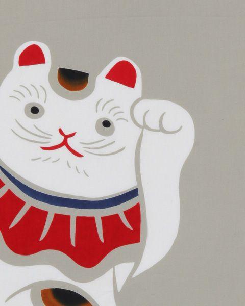 注染手拭い 招き猫【楽ギフ_包装】【楽ギフ_のし】【楽天市場】