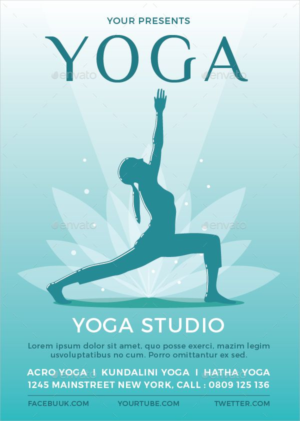 Image Result For Yoga Advertisement Poster Yoga Flyer