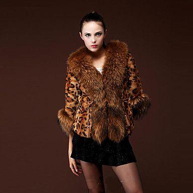 Coko   Stripes Short Type Faux Fur Vest Coat – AUD $ 46.94