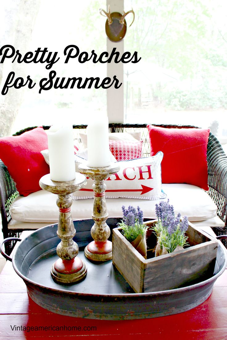 Screened Porch decorating