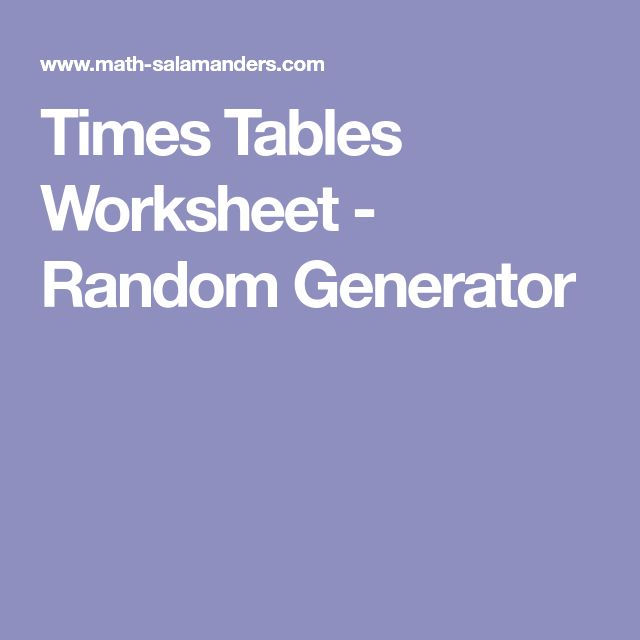 Best 25 Times Tables Worksheets Ideas On Pinterest