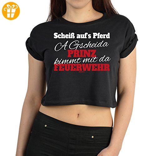 Cooles Damen Feuerwehr T-Shirt / Crop Top : Scheiß auf's / Scheiß auf´s Pferd .. Feuerwehr - Frauen Feuerwehr Farbe: schwarz Gr: S (*Partner-Link)