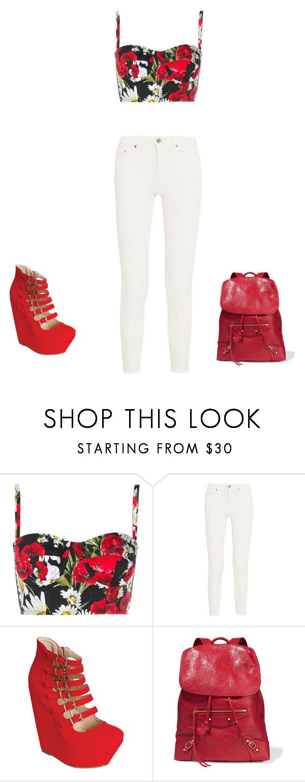 """red"" by renee-9392 on Polyvore featuring Dolce&Gabbana, Acne Studios and Balenciaga"