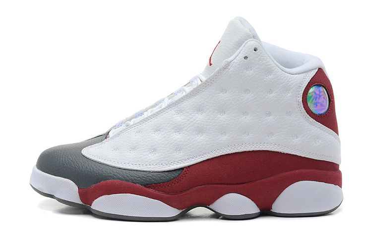 jordan 13 red and white