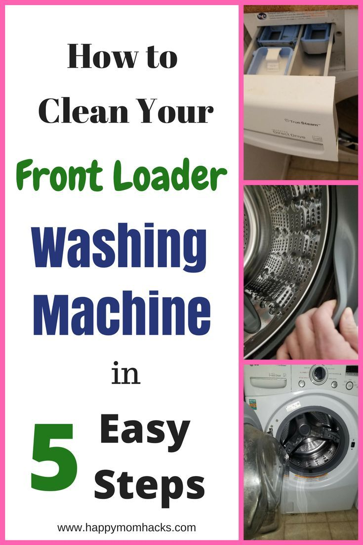 How To Clean A Front Loading Washing Machine In 5 Steps Clean