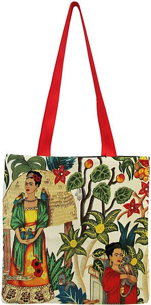 Day of the Dead Tote Bags Collection - Frida Kahlo Light Tote Bag - MPT03