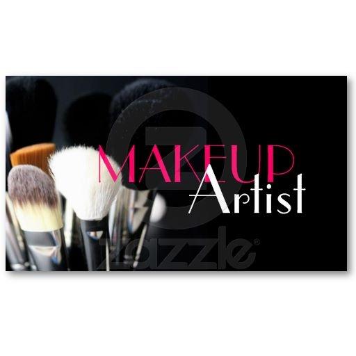 MakeUp Artist Nails Cosmetology Business Card