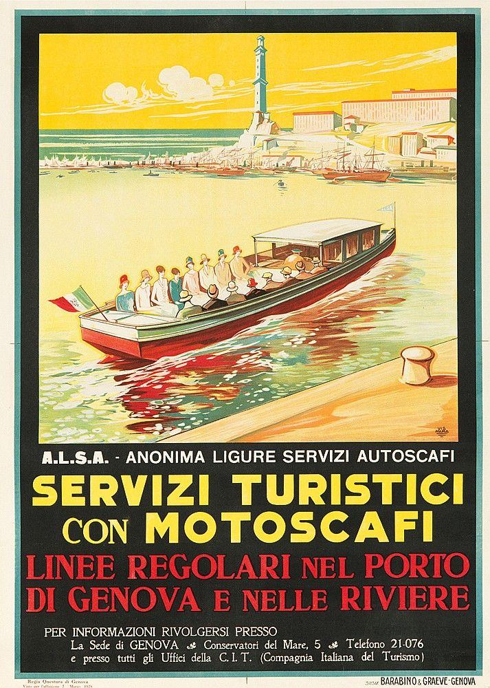 Servizi Turistici con Motoscafi - 1928 - (Vismara) -
