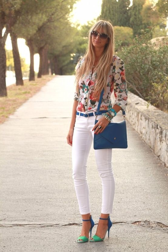 White and Florals- love this look!!