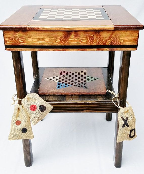 Game Table Wood Board Games Backgammon / by HappyChairsandMore
