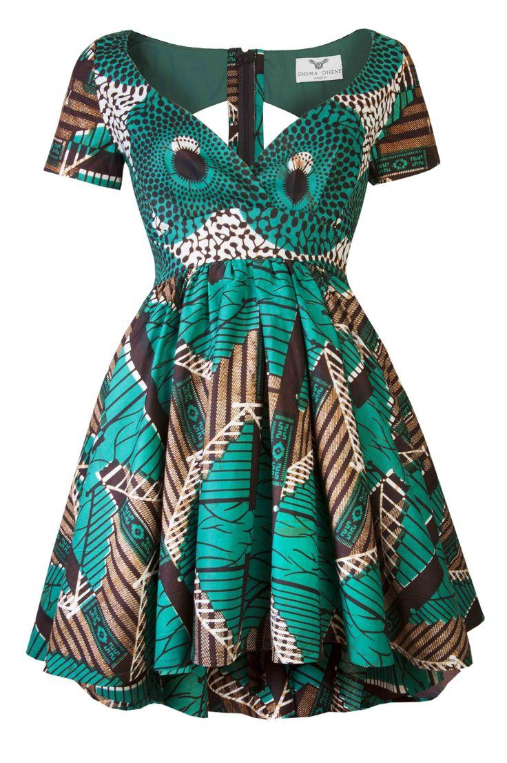 Robe vert Louisa - style africain