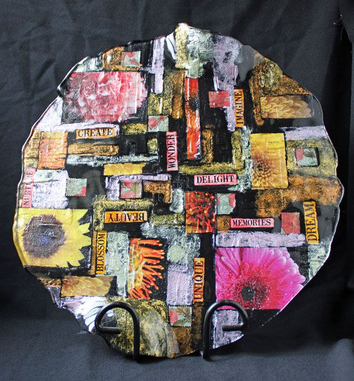 Blossom Beauty Glass Platter