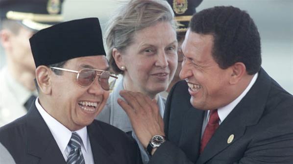 Keakraban Chavez dengan Gus Dur
