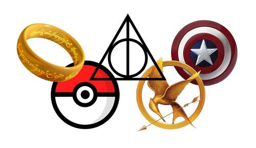 The Fandom Olympic Rings (Edit - The stupid Hunger Games symbol needs to removed for something Power Rangers Related)