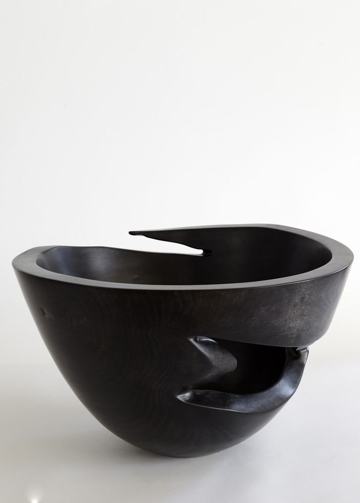 """Bowl No. 2569,"" Andrew Early, 2012, Ebonized jacaranda wood"