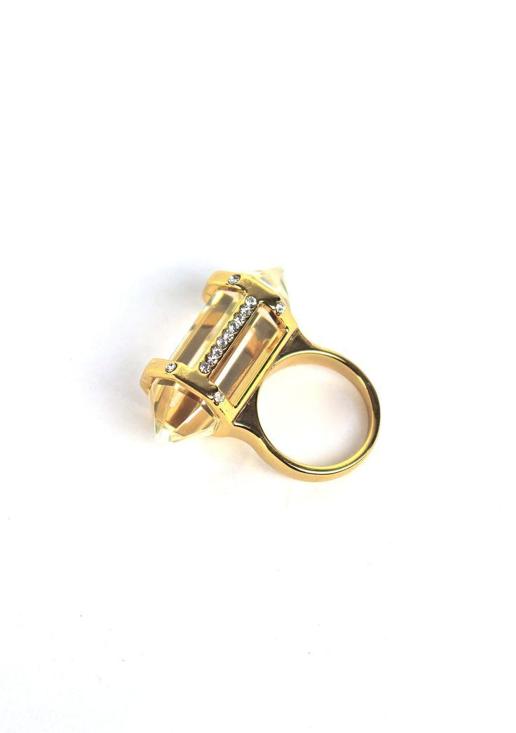 Superman's weakness….wear this Kryptonite Crystal Ring.