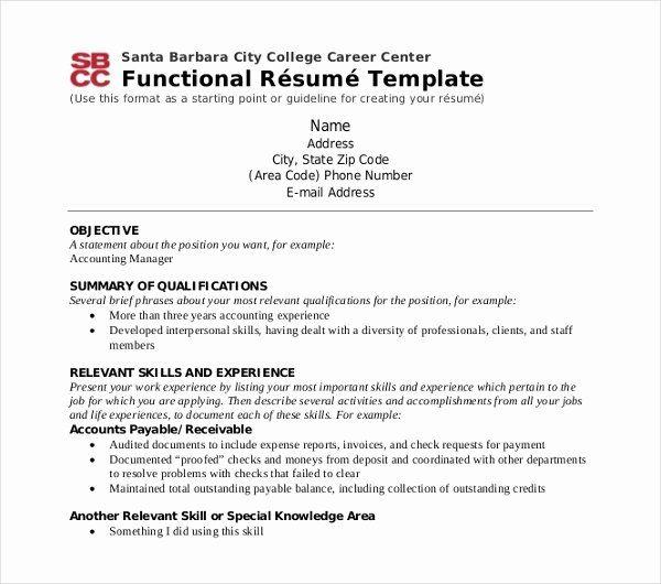 Career Resource Center Uf Resume Luxury 10 Functional Resume Templates Pdf Doc Functional Resume Template Free Resume Template Download Functional Resume