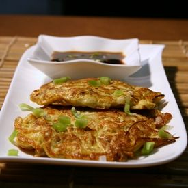 Shrimp Egg Fu Yung - Fresh bite size pieces of shrimp, bean sprouts, celery, sweet peppers, green onions, water chestnuts in an egg omelet.