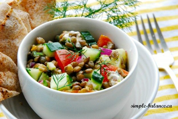 Dillicious French Lentil Salad: Simple and tasty side - perfect for a BBQ or picnic!