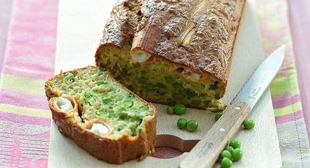 Cake au surimi et aux petits poisVoir la recette du Cake au surimi et aux petits pois >>